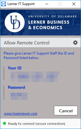 teamviewer ready to connect